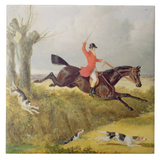 Clearing a Ditch, 1839 (oil on panel) Ceramic Tile