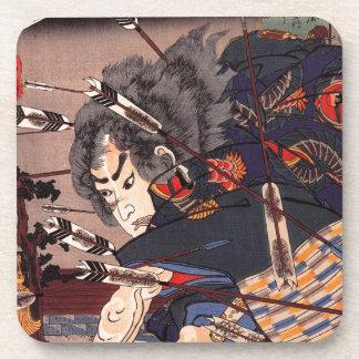 Clearing water at Horikawa by Utagawa Kuniyoshi Coasters