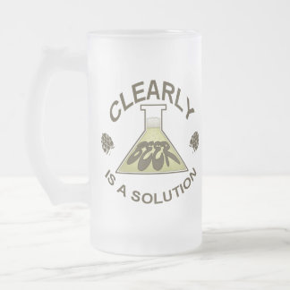 Clearly, Beer is a solution mug