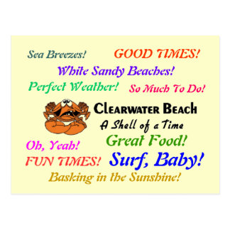 Clearwater Beach Crab Postcard