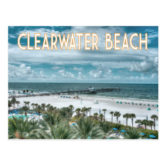 Clearwater Beach Florida beach scene Postcard