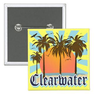Clearwater Beach Florida FLA 15 Cm Square Badge