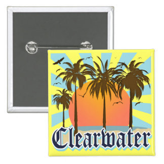 Clearwater Beach Florida FLA 15 Cm Square Badge