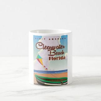 Clearwater Beach, Florida vintage travel poster Coffee Mug
