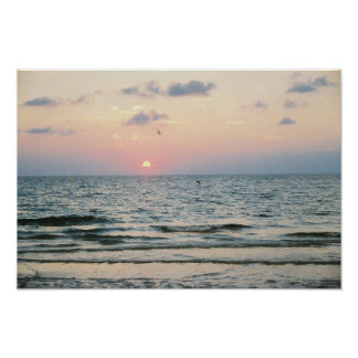 Clearwater Beach Sunset Poster