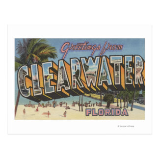 Clearwater, Florida - Large Letter Scenes 2 Postcard