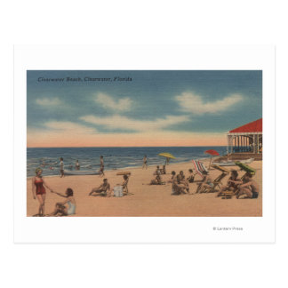 Clearwater, Florida - View of Clearwater Beach Postcard