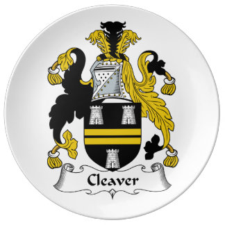 Cleaver Family Crest Plate