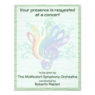 Clef Bouquet Concert Invitation