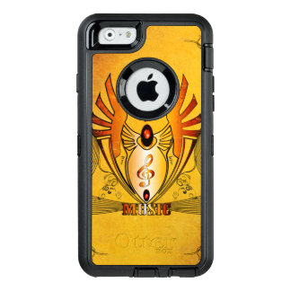 Clef on a decorative button, golden design OtterBox iPhone 6/6s case