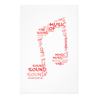 Clef - the sould of music stationery paper