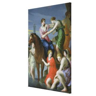 Clelia Crossing the Tiber Canvas Print