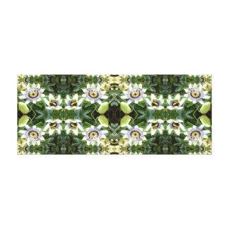 Clematis 745 Fractal A Floral Canvas Panel