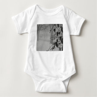 Clematis and Snow fall during a blizzard. Baby Bodysuit
