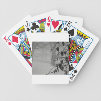 Clematis and Snow fall during a blizzard. Bicycle Playing Cards