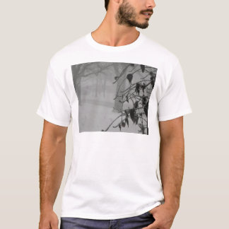 Clematis and Snow fall during a blizzard. T-Shirt