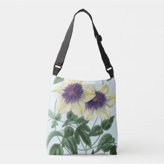 Clematis Flower Art Crossbody Bag