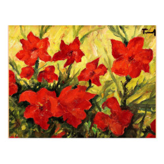 Clematis Red Flowers Postcard