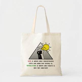 Clenched fist solidarity government tyranny tote bags