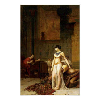 Cleopatra Before Caesar Poster