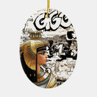 Cleopatra Ceramic Ornament