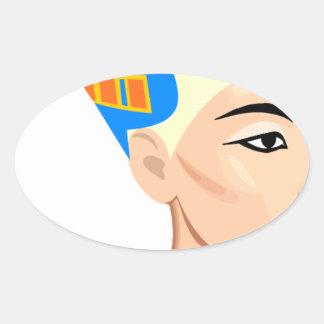 cleopatra oval sticker