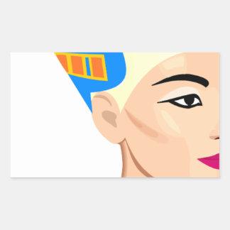 cleopatra rectangular sticker