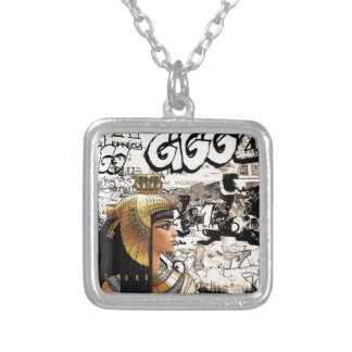 Cleopatra Silver Plated Necklace