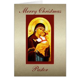 Clergy  Merry Christmas Pastor Custom Greeting Card