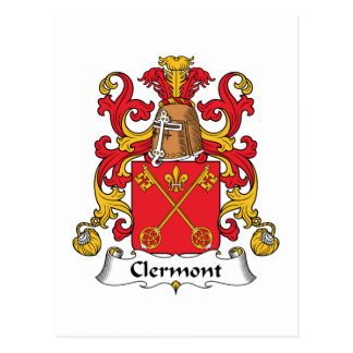 Clermont Family Crest Postcard