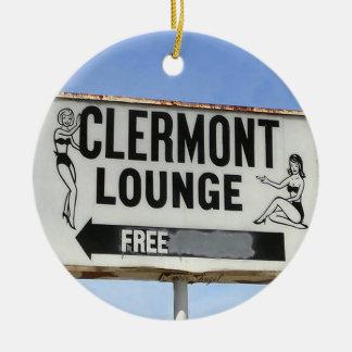 Clermont Lounge, Atlanta, Georgia, Merry Christmas Ceramic Ornament