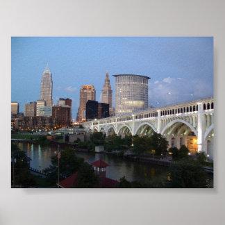 Cleveland at Dusk Poster