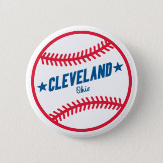 Cleveland Baseball 6 Cm Round Badge