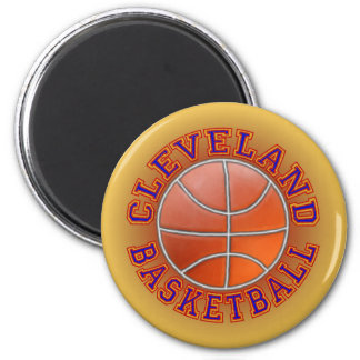 Cleveland Basketball Round Magnets.