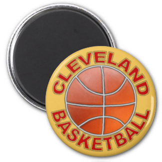 Cleveland Basketball Round Magnets. 6 Cm Round Magnet