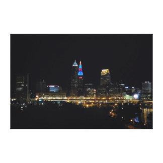 Cleveland Bright Lights Big City Canvas Print