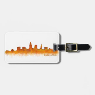 Cleveland City watercolor U.S. skyline Luggage Tag