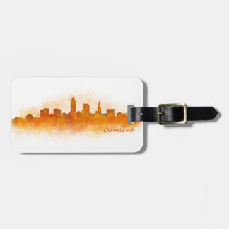 Cleveland City watercolor U.S. skyline v3 Luggage Tag