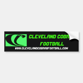 Cleveland Cobras Football Bumper Sticker