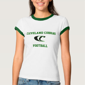 Cleveland Cobras Football Ladies Ringer Tee