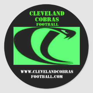 Cleveland Cobras Football Sticker