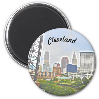 Cleveland Essence ( River Bank View) Magnet