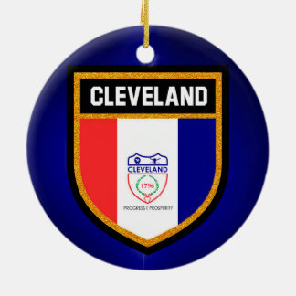 Cleveland Flag Ceramic Ornament
