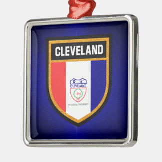 Cleveland Flag Metal Ornament