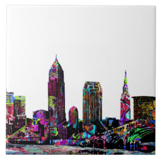 Cleveland graffiti ceramic tile