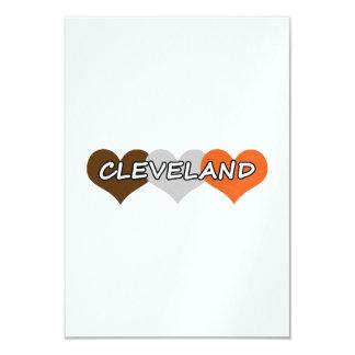 Cleveland Heart 9 Cm X 13 Cm Invitation Card