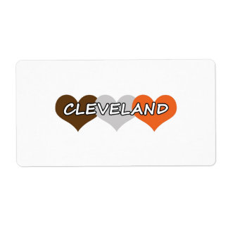 Cleveland Heart Shipping Label