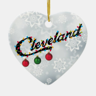 Cleveland  in Lights shirt Ornament PERSONALIZE IT