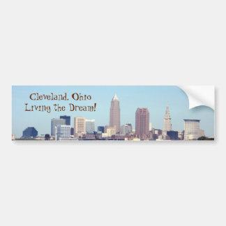 Cleveland OH Living the Dream Bumper Sticker