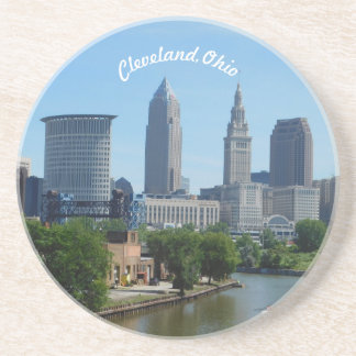 Cleveland, OH Riverview Sandstone Coaster